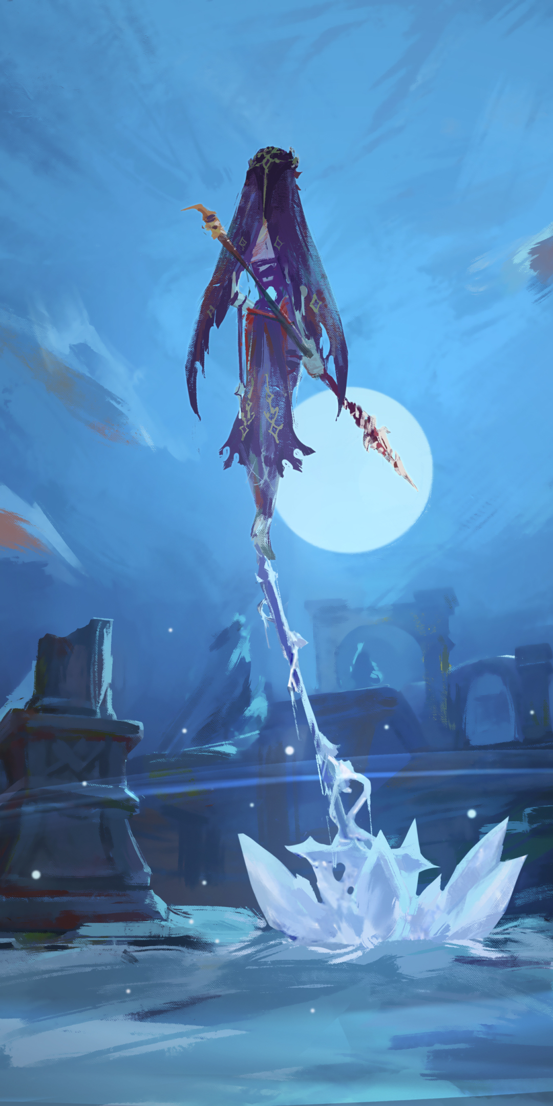 Download Genshin Impact Klee Anime Style Jumping Wallpapers for Google Nexus 10