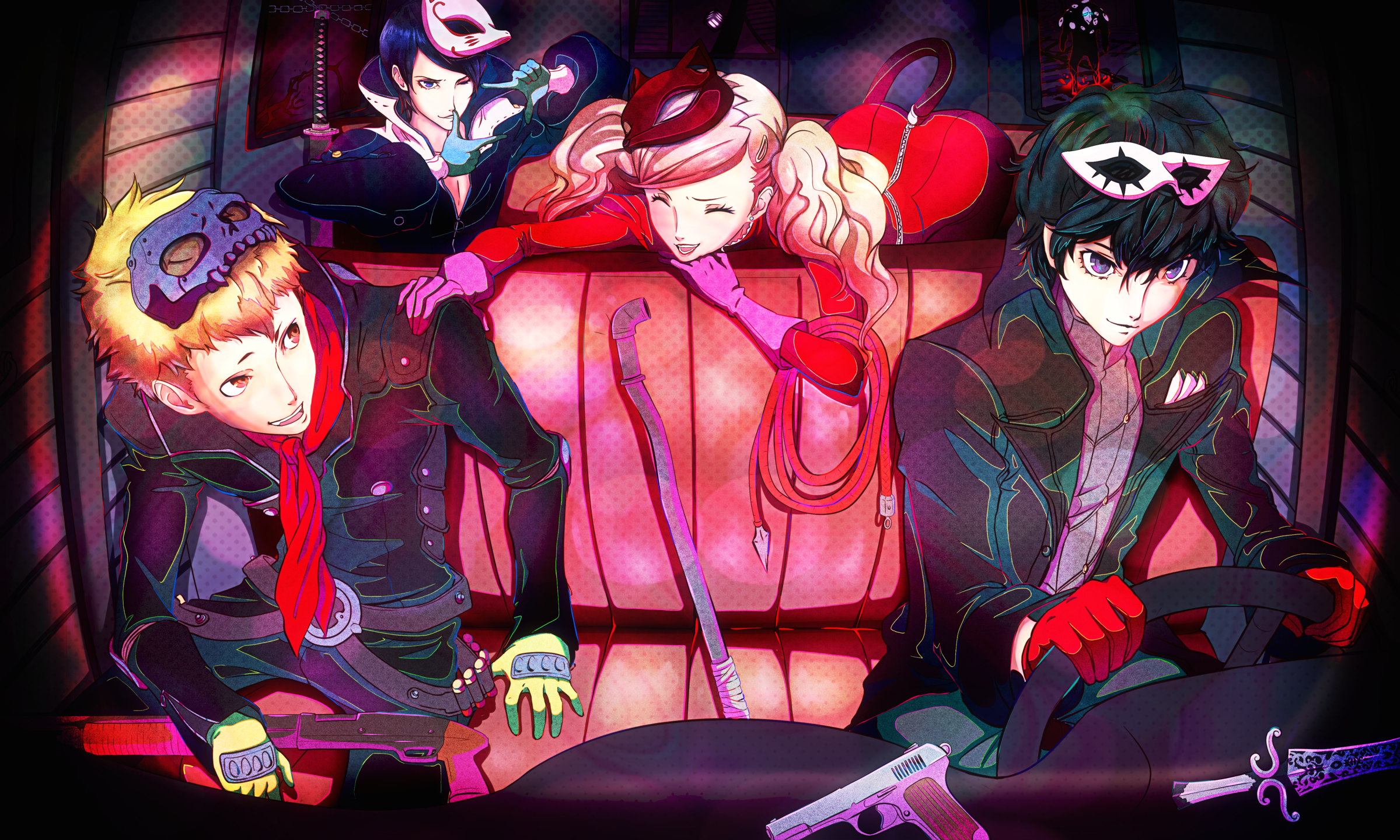 Persona 5 Tous Les Wallpaper HD Des All Out Attacks Jeux